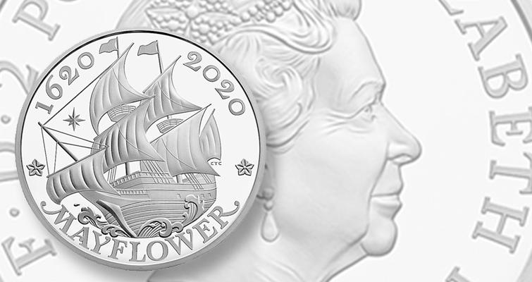 UK Mayflower coin