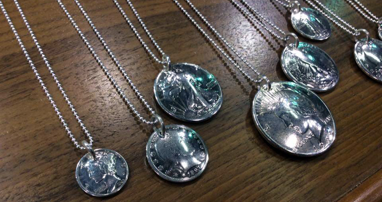 U.S. coin jewelry necklaces