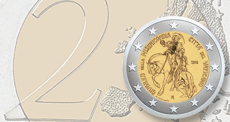 Vatican commemorates Jubilee of Mercy with circulating 2016 €2 coin
