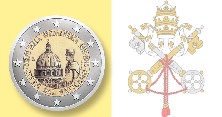 Vatican announces €2 coin for anniversary of police force