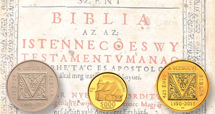 Coins celebrate 425th anniversary of Bible translation into Hungarian