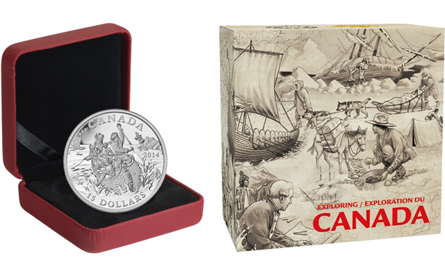 Canadian Voyageurs explorers feature on Matte Proof silver $15 coin launched by RCM