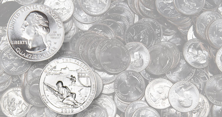 2019-W War in the Pacific quarter dollars in circulation