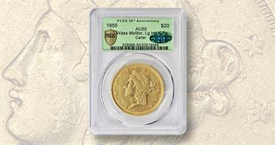 Wass Molitor 1855 gold $20