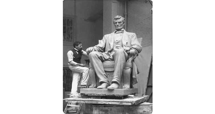 Weinman-working-on-Lincoln-Statue