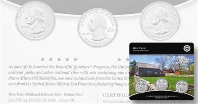 Weir Farms three-coin set