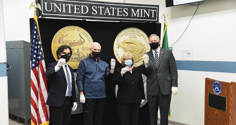 West Point Mint striking ceremony