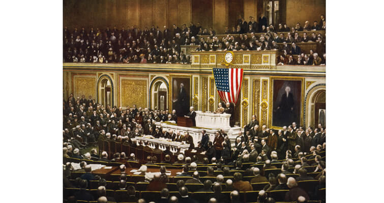 woodrow-wilson-asking-congress-to-declare-war