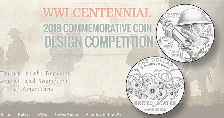 World War One Centennial dollar design competition winner lead