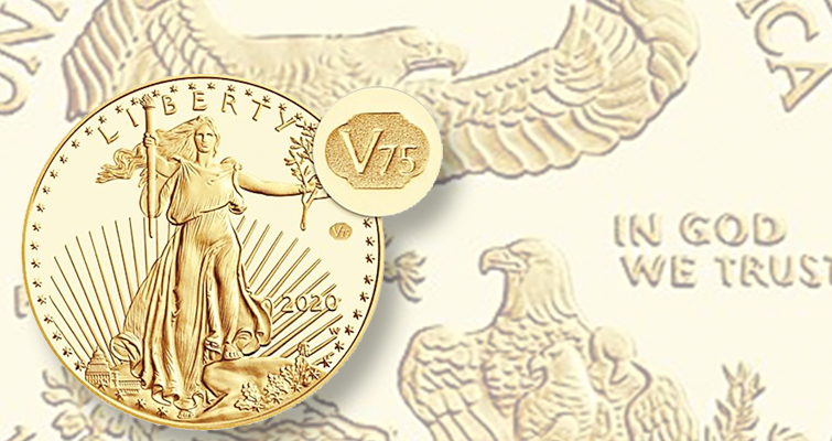 Proof End of WWII gold American Eagle