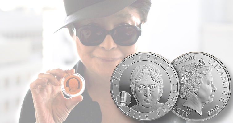 Celebrating musicians: Imagine a world with John Lennon coins
