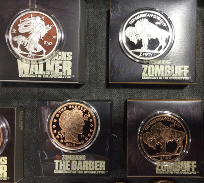 Provident Metals, producer of the Zombucks series of post-apocalyptic coins, is among those dealers that now accept virtual currency like Bitcoin from purchasers of coins and precious metals.